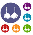 lingerie icons set vector image vector image