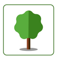 Maple tree icon Flat design vector image vector image