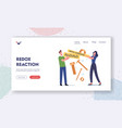 metal corrosion landing page template tiny vector image