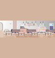 modern fast food restaurant with counter tables vector image vector image