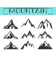 Mountain silhouette set vector image vector image