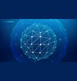 network sphere big data background vector image