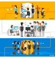 Office People Flat Horizontal Banners vector image vector image