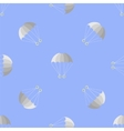 Parachute Seamless Pattern on Blue Sky vector image vector image