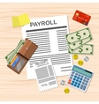 payroll invoice sheet vector image