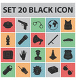 police department black icons in set collection vector image vector image