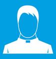 priest icon white vector image vector image