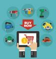 sale tools design flat vector image vector image