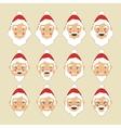 Santa Faces Set vector image vector image
