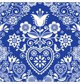 seamless folk art pattern with birds vector image vector image