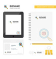 search item business logo tab app diary pvc vector image