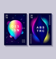 set of creative design posters vector image vector image