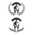 Set of the emblems templates with helmet Spartan vector image vector image