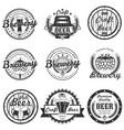 set vintage craft beer labels badges vector image vector image
