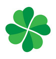 shamrock - green four leaf clover icon good luck vector image vector image
