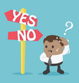 signs option yes or no vector image vector image