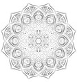 silver mandala pattern on white background vector image