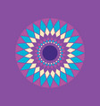 simple geometric mandala spiral vector image