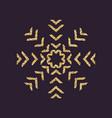 snowflake icon christmas and new year xmas vector image vector image