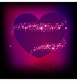 Sparkle bright pink heart vector image vector image