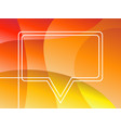 speech bubble dynamic white continuous line vector image vector image