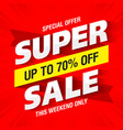 super sale banner this weekend only special offer vector image vector image