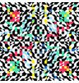 symmetrical ornament colorful geometric shapes vector image vector image