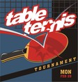 table tennis logo poster vector image vector image