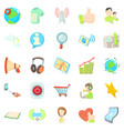 tinkle icons set cartoon style vector image vector image