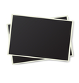 Two old photo frames isolated vector image vector image