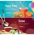 two web banners with fast vector image