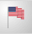 united states of america waving flag creative vector image