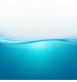 water wave surface liquid ocean or sea underwater vector image vector image