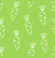 white carrot silhouette seamless vegetable pattern vector image