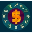 Zodiac signs business horoscope vector image