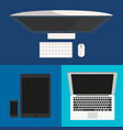 flat design computer monitor smartphone laptop vector image