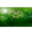 A green and violet border design vector image