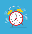 alarm clock ringing vector image vector image