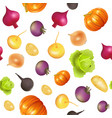 background seamless vegetarian with vegetables vector image vector image