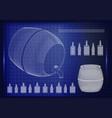 barrel on a blue background vector image vector image