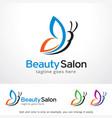 beauty salon logo template design vector image