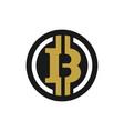 bitcoin currency circle logo vector image