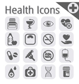black medical icon vector image