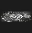 burger hamburger hand drawn vector image vector image