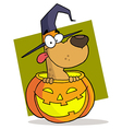 Cartoon Character Halloween Dog vector image vector image