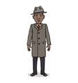 cartoon character - young afro american man