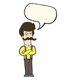 cartoon man with mustache with speech bubble vector image vector image