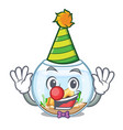 clown fishbowl in a funny on cartoon vector image vector image