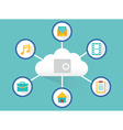 Concept of safe cloud computing vector image vector image