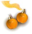 cosmetic product gold cream or liquid vector image vector image